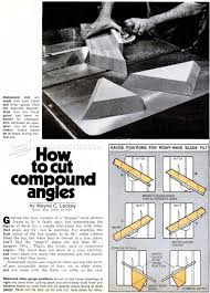 miter cuts on table saw how to cut compound angles woodarchivist