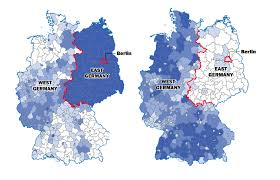 Germany On A World Map by The Berlin Wall Fell 25 Years Ago But Germany Is Still Divided