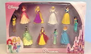 disney princess figurine set 10 groupon