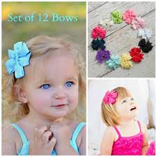 toddler hair accessories hair bows set of 12 hair bows hairbows hair bows