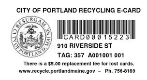 riverside recycling e card