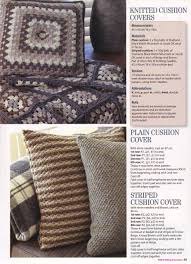 Patterns For Knitted Cushion Covers Granny Square Throw And Cushion Cover Crochet Knitting Pattern
