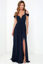 elegant navy blue dress maxi dress cocktail dress prom dress