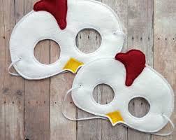 chicken mask etsy