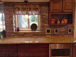 Kitchen Backspash Fine Stone Veneer Kitchen Backsplash Of Digging This Look Medium