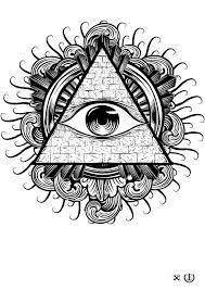 all seeing eye by e1 illustrations eye