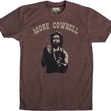 more cowbell t shirt 80s tv saturday night live t shirt