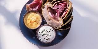 cuisine artichaut artichaut et dips facile et pas cher recette sur cuisine actuelle