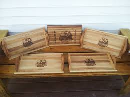 personalized trays made personalized cutting boards serving trays engraved