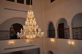 Czech Crystal Chandeliers Privat Villa Entrance Hall Dubai Wranovsky Bohemian Crystal