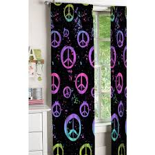 peace sign bedroom your zone peace sign kids bedroom curtains walmart com