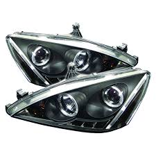 2004 honda accord headlights spyder auto honda accord 03 07 projector headlights led halo