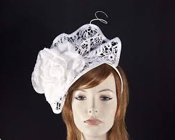 lace fascinator white lace fascinator for melbourne cup derby races buy online