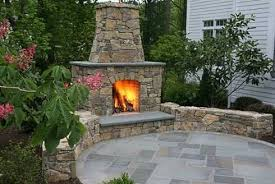 Outdoor Fireplace Patio Designs Patio With Outdoor Fireplace Around The And