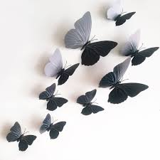12 pcs wall sticker 3d butterfly hiasan dinding kupu kupu timbul weight