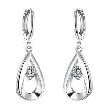 silver earring online cheap 925 sterling silver earrings cubic zirconia silver