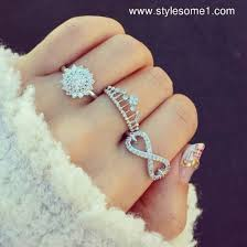 silver pretty rings images Jewels ring belt bague princess couronne crown ring jpg