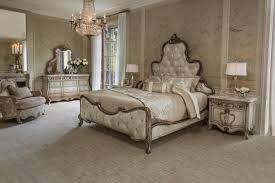 Acme Hollywood Chantelle Bedroom Set Aico Platine De Royale 4pc Panel Bedroom Set In Antique Platinum