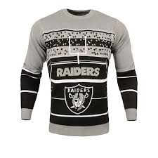 raiders light up christmas sweater officially licensed nfl stadium light up ugly sweater by forever