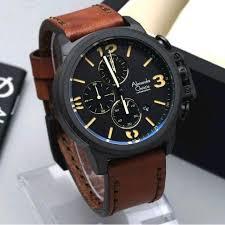 Jam Tangan Alexandre Christie Cowok jam tangan pria alexandre christie ac6280 leather brown original