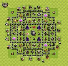 layout vila nivel 9 clash of clans layout de defesa clash of clans nível da centro de vila 9 cv 9