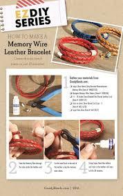 braided leather wrap bracelet images Memory wire leather wrap bracelets goodybeads blog jpg
