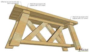 Plans For Picnic Table With Attached Benches by How To Build An Outdoor Bench With Free Plans