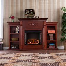 electric fireplace with bookshelves binhminh decoration