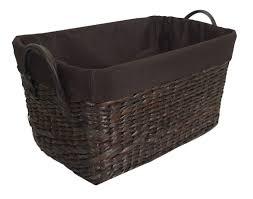 Rattan Baskets jia home tapered rectangular wicker rattan basket u0026 reviews wayfair