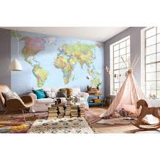 komar 145 in h x 98 in w world map wall mural xxl4 038 the w world map wall mural xxl4 038 the home depot