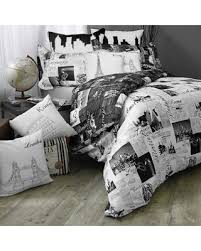 Black And White Comforter Full Amazing Deal On Passport London And Paris Reversible Full Queen