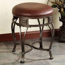 Vanity Chairs For Bathroom Bathroom Casual Brown Vanity Stool With Shape Black