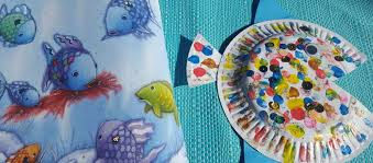 rainbow fish paper plate craft simply kinder