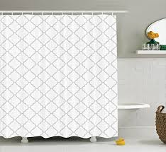 Shower Curtain Long 84 Inches Silver Shower Curtain Set By Ambesonne Abstract Natural Ivy