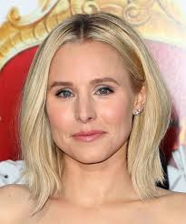light and wispy bob haircuts kristen bell medium straight casual bob hairstyle light blonde