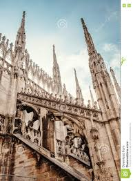 milan cathedral roof gallery flamboyant style of late gothic