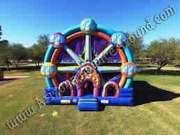 bounce house rentals ferris wheel bounce house rentals carnival themed