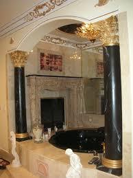 Interior Home Columns Faux Marble Columns Ceiling U0026 Gold Leaf Moulding Wisenbaker Model