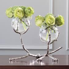 interior home scapes global views twig 2 vase holder nickel interior homescapes