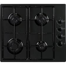 cuisiner au gaz ou à l électricité plaque de cuisson gaz 4 foyers noir frionor ggnofri 2 leroy merlin