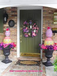 easter door decorations easter door decorations with flowers and rug and wall ls