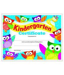 kindergarten certificates kindergarten certificate owl preschool kindergarten