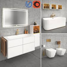 3d bathroom finion villeroy boch turbosquid 1180072