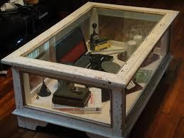 coffee table coffee table with glass display glass display coffee