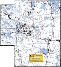 Counties In Wisconsin Map by Wisconsin Counties Online Snowmobile Trail Maps Hcs Snowmobile