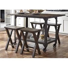 kitchen island tables with stools narrow kitchen island table wayfair