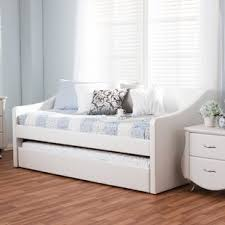 white wood daybed with trundle wayfair