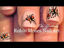easy butterfly nail on nails monarch nails design