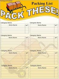 Packing List Template Excel Packing List Template Nfgaccountability Com
