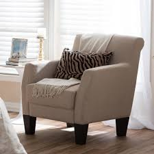 Accent Chairs In Living Room Home Decorators Collection Flanders Brown Faux Suede Accent Chair